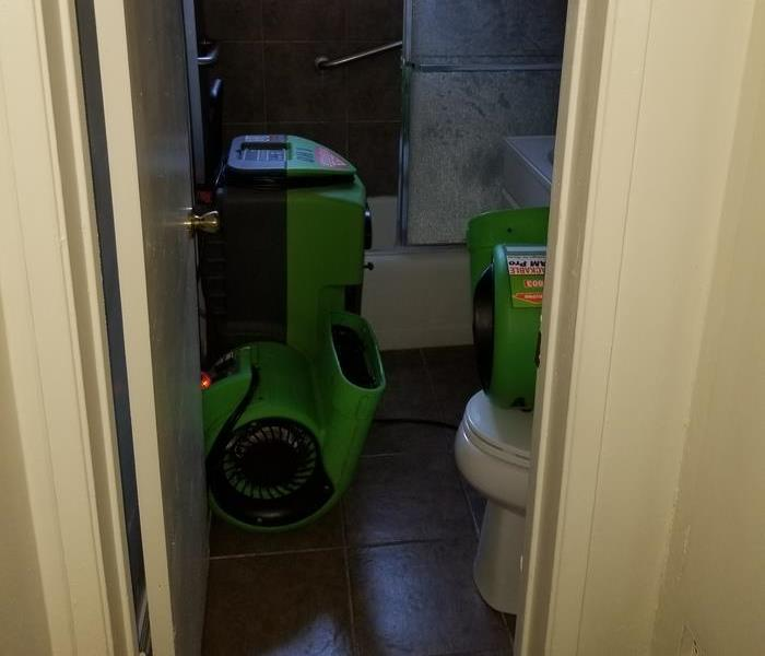 Bathroom Water Damage in Long Beach Before