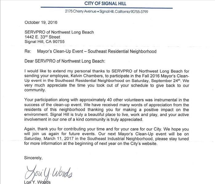 Thank You From The Mayor