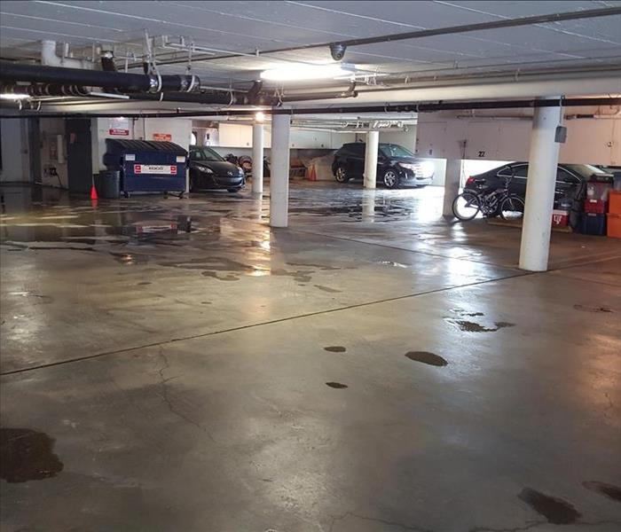 A Broken Pipe Shuts Down Parking Access