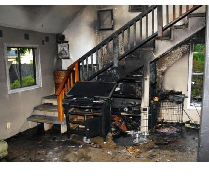 Electronic Fire Under Stairs Blocks Second Floor Evacuation